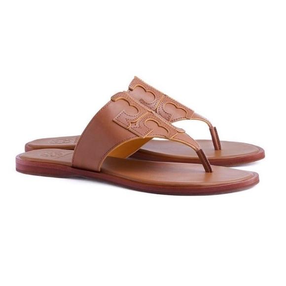 52cdf3fda923 Tory Burch logo thong sandal